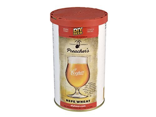 Coopers Premium Selection – Preacher's Hefe Wheat Beer 1.7 Kg 40 Pint Beer Kit Homebrew Home Brew Belgian Style Cloudy