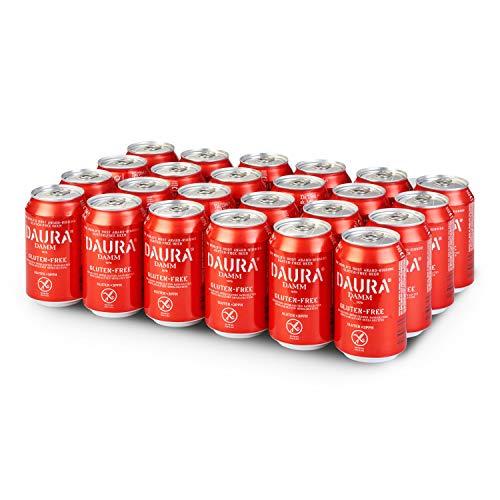 Damm – Daura Gluten-Free Beer, 24 x 330ml Can Case | Beer suitable for Coeliacs, Gluten-Free, Award-Winning, High…