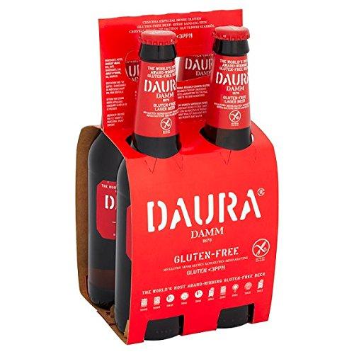 Daura Damm Gluten-Free Lager Beer 4 x 330ml (Pack of 24 x 330ml)