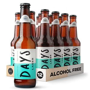 Days – Alcohol Free Beer – 12 x 330ml – 0.0% Non-Alcoholic Lager, Low Calories, Vegan, Natural Ingredients – Locally…