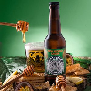 Drop Bear Beer, Alcohol-Free Beer, Premium Non Alcoholic Lager, Gluten Free, Vegan, 330ml Bottles ( New World Lager, 12…