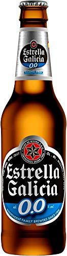 Estrella Galicia 0.0% Alcohol Free Beer – Floral Hoppy Aroma Sweet Flavour Bitter Finish Light Amber Colour Serve Ice…