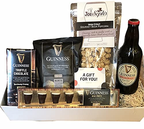Guinness Chocolate Gift Hamper – Irish Beer Gift Set – Gift for Father's Day, Thank You Gift and Special Occasions