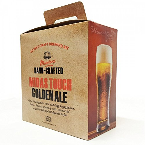 Home Brew Ingredients – Muntons Premium Gold – Midas Touch Golden Ale – 40 Pint Homebrew Beer Kit