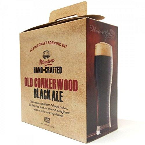 Home Brew Ingredients – Muntons Premium Gold – Old Conkerwood Black Ale – 40 Pint Homebrew Beer Kit