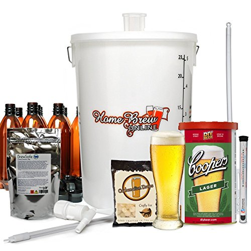 Home Brew Online Complete Beer Making Kit – with Coopers Lager