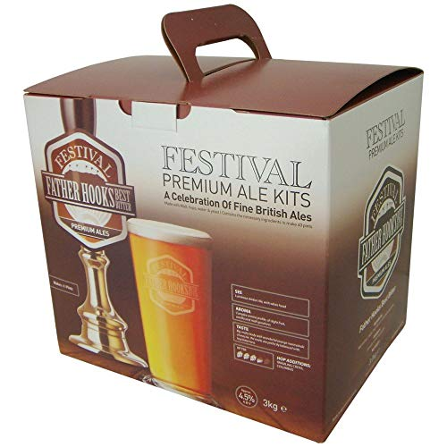 Homebrew & Wine Making – Festival Premium Ale – Father Hooks Best Bitter – 40 Pint Home Brew Beer Kit