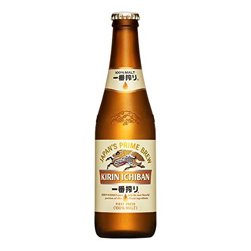 Kirin Ichiban Japan's Premium Beer 330ml 4.6% Alc. / Vol (Pack of 6)