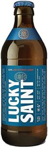 LUCKY SAINT Superior Unfiltered Alcohol Free Beer, 0.5% ABV (330ml (Case of 18))