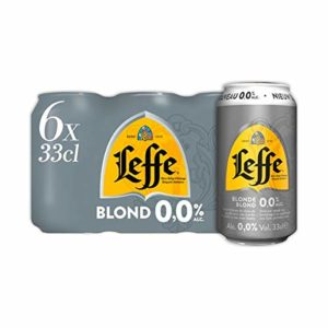 Leffe Blonde 0.0% Alcohol Free Blonde Ale – 24 Cans, 330ml