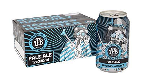 London Fields Brewery Fields Hackney Hopster Craft Pale Ale Beer, 12 x 330 ml