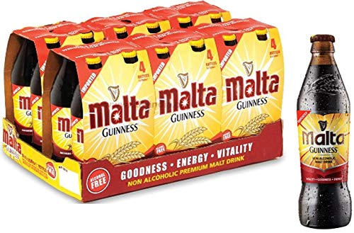 MALTA GUINNESS Non Alcoholic Malt Drink, 330 ml, 24-Count