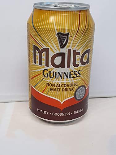 Malta Guinness Non Alcoholic Malt Drink 330ml Can (Pack of 6)
