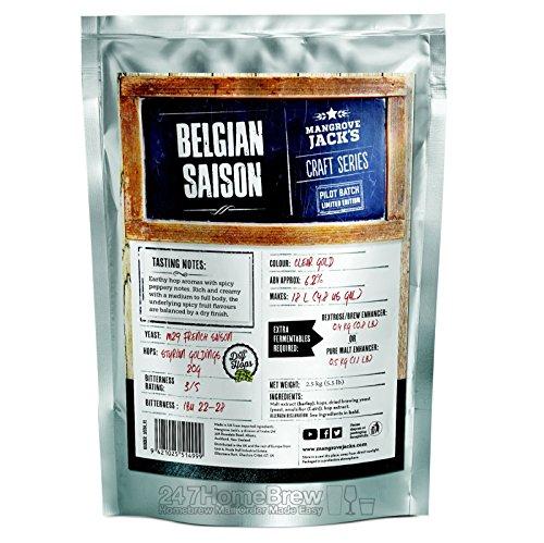 Mangrove Jack's Belgian Saison Craft Beer Kit Pouches 23L 6.2% ABV