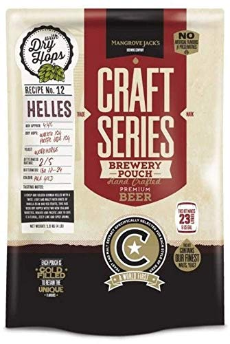 Mangrove Jack's Helles Craft Beer Kit Pouches 23L 4.4% ABV
