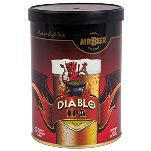 Mr. Beer Diablo IPA 2 Gallon Homebrewing Craft Beer Making Refill Kit with Sanitizer, Yeast and All Grain Brewing…