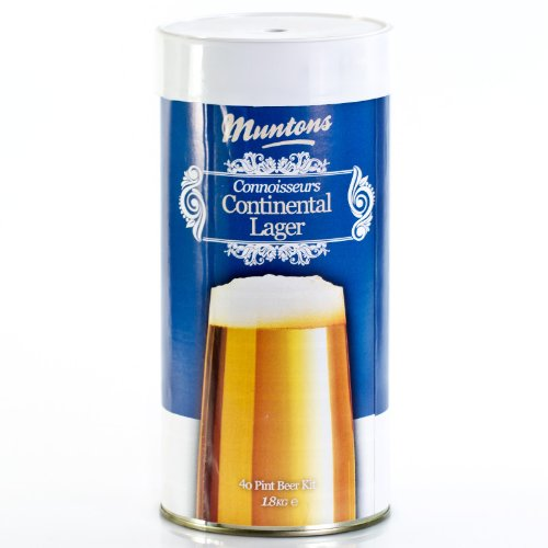 Muntons Continental Lager 1.8 kg Brewing Kit / Beer Kit for 23 Litres of Beer