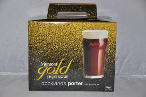 Muntons Gold Continental Docklands Porter Kit – Makes 40 Pints – Home Brew Beer Kit