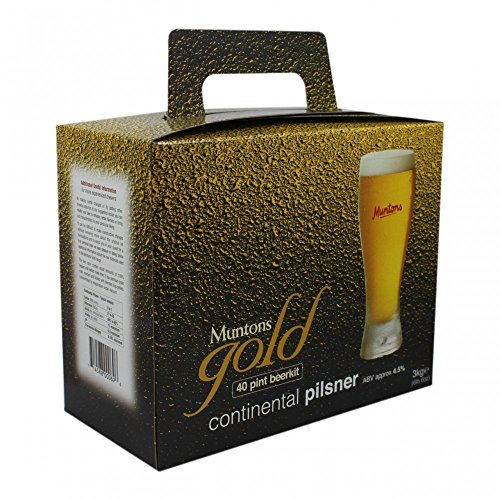 Muntons Gold Continental Pilsner 40 Pint 3kg Home Brew Beer Kit