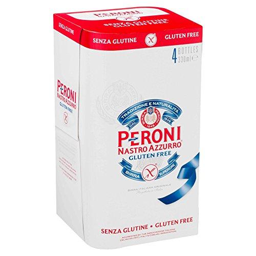 Peroni Nastro Azzurro Beer, Gluten Free, 4 x 330ml