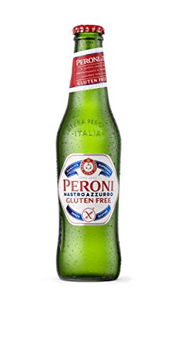 Peroni Nastro Azzurro Gluten-Free Beer 5.1% ABV – 24 x 33cl Bottles – Italy's Iconic Beer   Citrus Aromatic Notes…