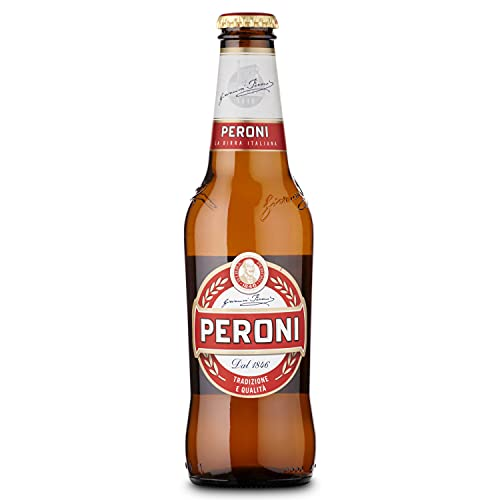 Peroni Red – 4.7% ABV, 330ml x 24 Bottles in a Pack   Authentic Italian Lager   Smooth & Refreshing   Floral…