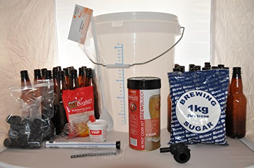 Quality Home Brew Starter kit with Youngs 'Brew Buddy' Apple Cider + Guide