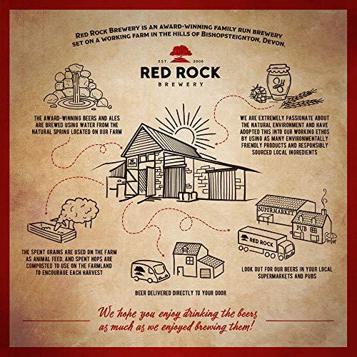 Red Rock Brewery Craft Beer – Case of 12x 500ml Bottles of British Beer (Botanical IPA 6.7%)