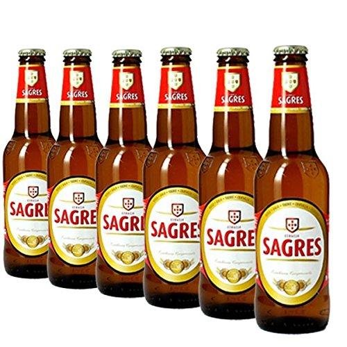 Sagres 6×0,33l – Package of 6 bottles of lager beer from Portugal
