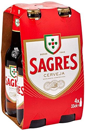 Sagres Cerveja Lager, 4 x 330ml