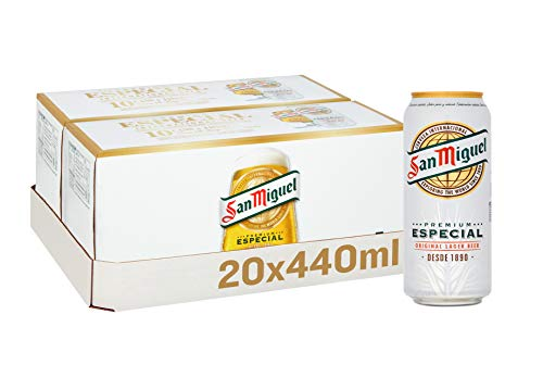 San Miguel Lager Beer Cans, 20 x 440 ml, Case of 20