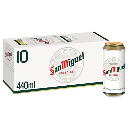 San Miguel Premium Lager Beer, 10 x 440ml