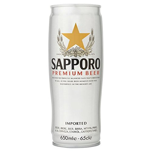 Sapporo Premium Imported Beer (6 x 650ml Cans)