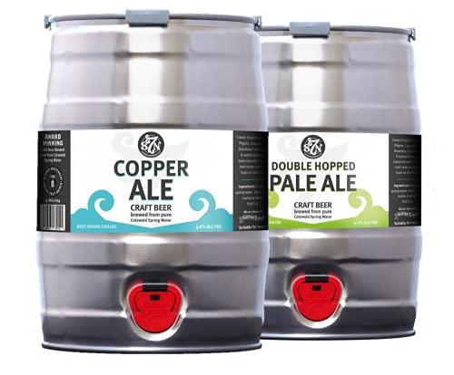 Severn Brewing Pale Ale 5L Mini Keg Double Mixed Case Trial Pack (Copper Ale & Double Hopped)