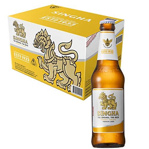 Singha Premium Thai Lager Bottles, 24 x 330 ml