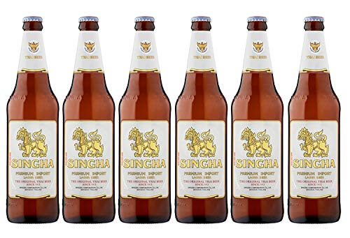 Singha Premium imported lager beer from Thailand 630ml 630ml bottle 6 x 630ml