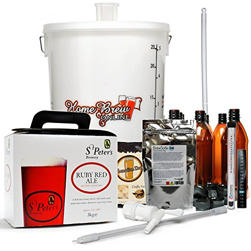 St Peters Micro Brewery Home Brew Complete Starter Kit – Ruby Red Ale