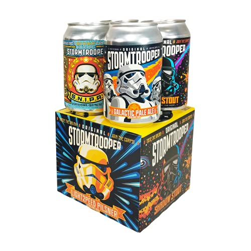 Stormtrooper Original Space Craft Beer 4 can mixed pack – a great fridge filler for the sci fi fan in your life