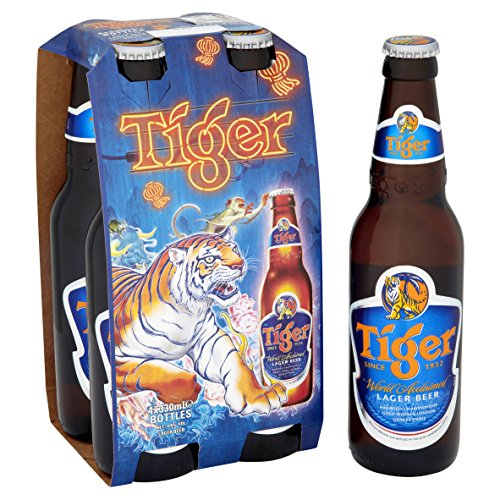 Tiger Lager Beer, 4 x 330ml