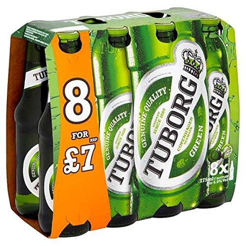 Tuborg Green Lager 8 x 275ml (Pack of 3 x 8x275ml)