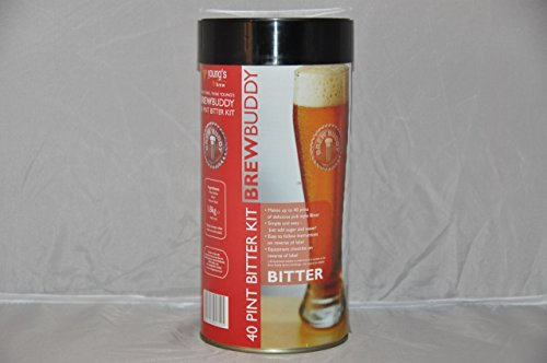 Youngs Brew Buddy Bitter Kit – Makes 40 Pints! – Home Brew Beer Kit