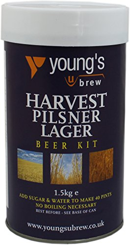 Youngs Harvest Pilsner Lager Kit – Makes 40 Pints! – Home Brew Beer Kit