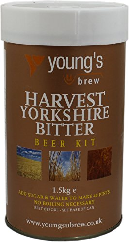 Youngs Harvest Yorkshire Bitter Kit – Makes 40 Pints! – Home Brew Beer Kit
