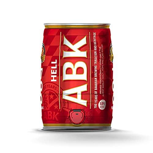 ABK HELL MINI KEG 5% ABV – Award winning Bavarian 'Helles style lager',5 Litre
