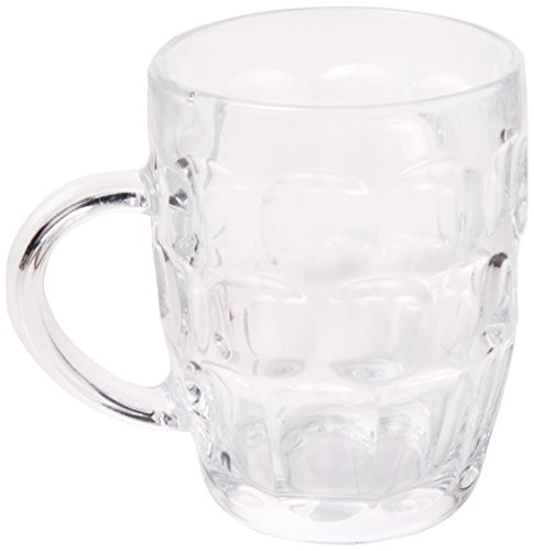 Bar @ Drinkstuff Arcoroc Britannia Beer Mug, Classic Pint, Noppenkrug, Glass Hag, 560ml, 4 amount