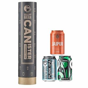 Beer Hawk IPA Beer Canister with 3 Beer Cans – India Pale Ale Craft Beer Selection Gift Set Box