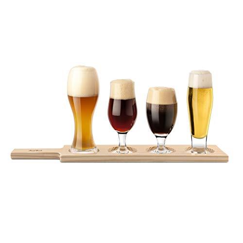 Beer Tasting 6 Piece Set | Beer Glass Gift Set for Beer Appreciation, Education and Food Pairings