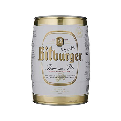 Bitburger Pilsner Premium German Lager Mini Keg – 4.8% ABV (5 Litre)