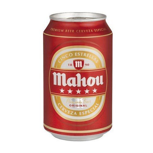 Bote de camuflaje / Lata de ocultación imitación cerveza (Mahou)
