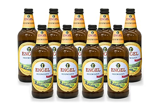 Engel Hefeweizen Hell (Light)   Premium German Craft Beer   Wheat Beer   Case of 9 Bottles   Fruity, Refreshing and Well…